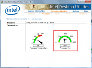 Intel Desktop Utillityの表示1